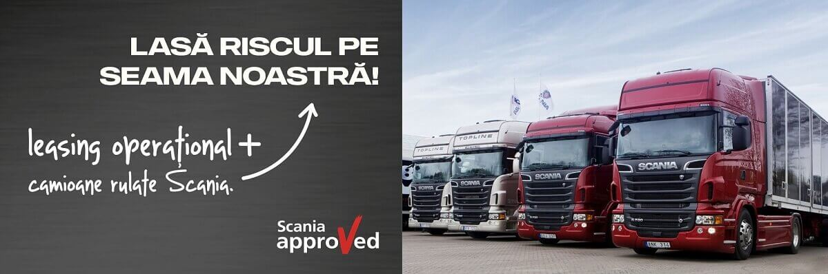 Leasing financiar Camioane rulate Scania